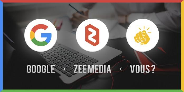 posez vos questions à Google chez Zee Media le 29 novembre